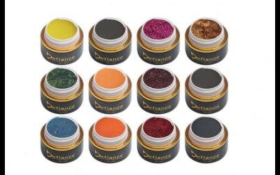 Latest Gel Colours . Twelve beautiful shades