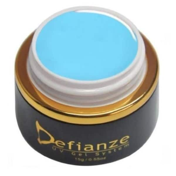 Bright turquoise blue colour gel