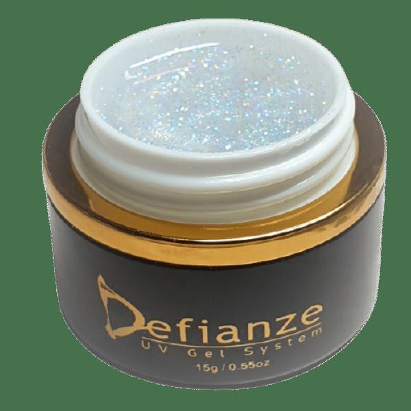 clear glitter gel with multi color glitter