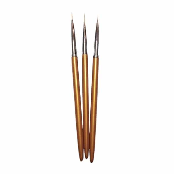 set of three stripper nail art brushes